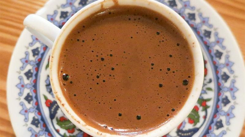 Türk kahvesi zeytinyağı maskesi