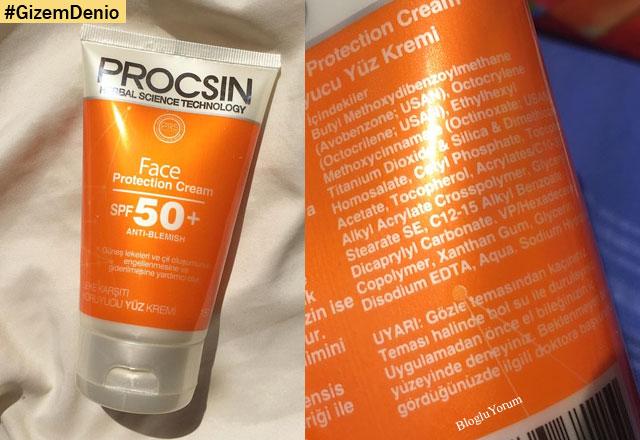 Procsin güneş kremi 50 faktör yorumları