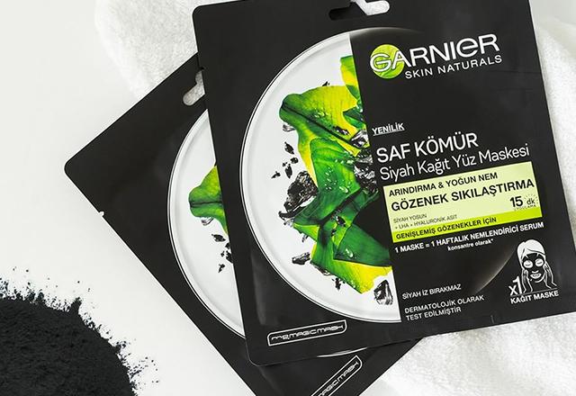 Garnier saf kömür siyah kağıt yüz maskesi
